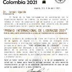 Premio Internacional de Liderazgo Colombia 2021